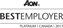 AON Best Employer, Platinum, Canada, 2017